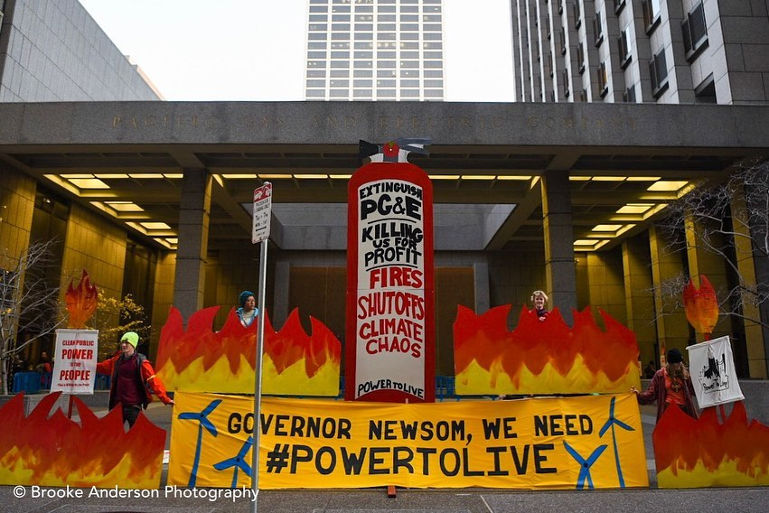 Frontline Communities Gather at PG&E Headquarters to Take Back Their Power
