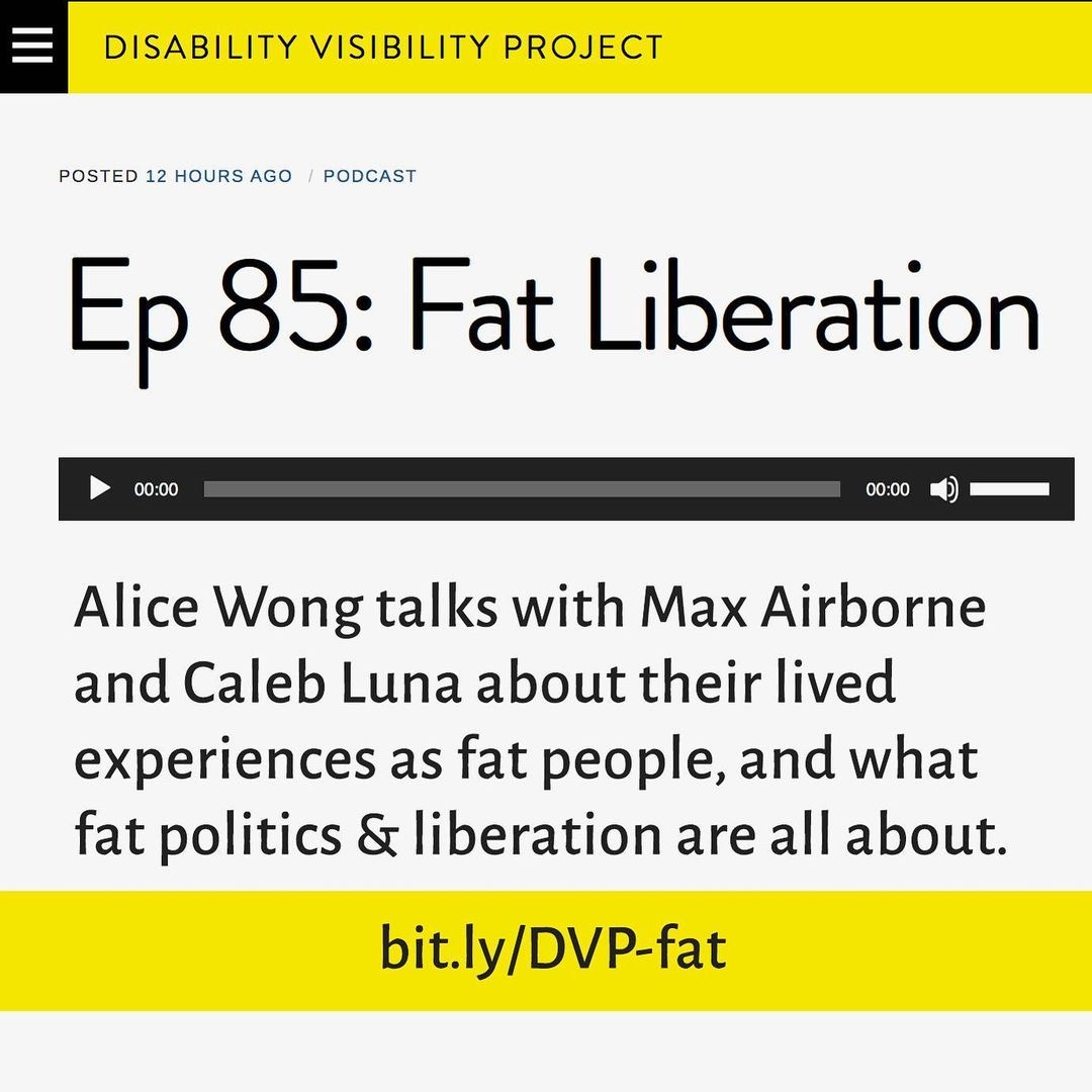 Disability Visibility Project podcast: Fat Liberation